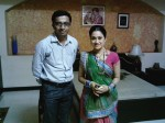 With Dishaben Vakani on TMKOC set